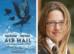 """Book cover """"Air Mail"""" and Pam Houston headshot"""