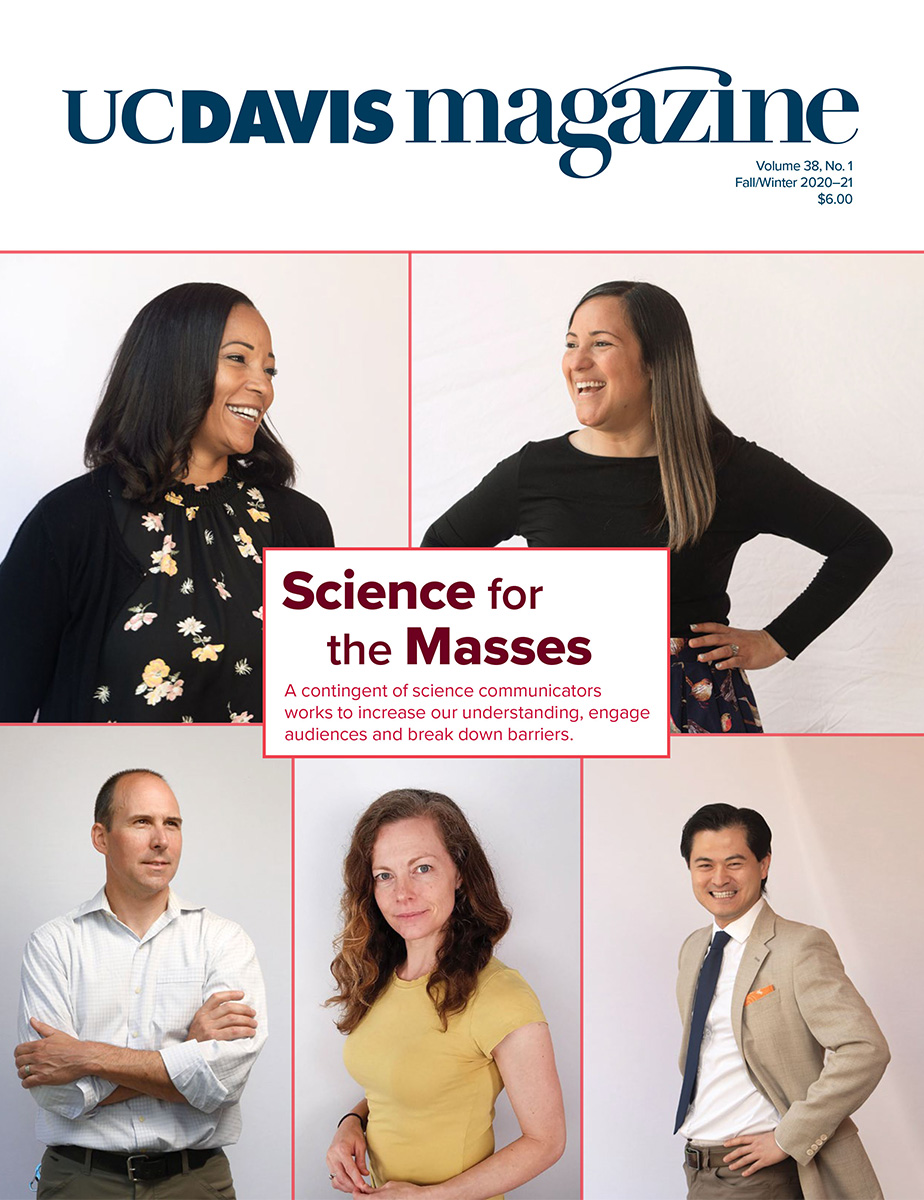 UC Davis Magazine Cover Fall/Winter 2020