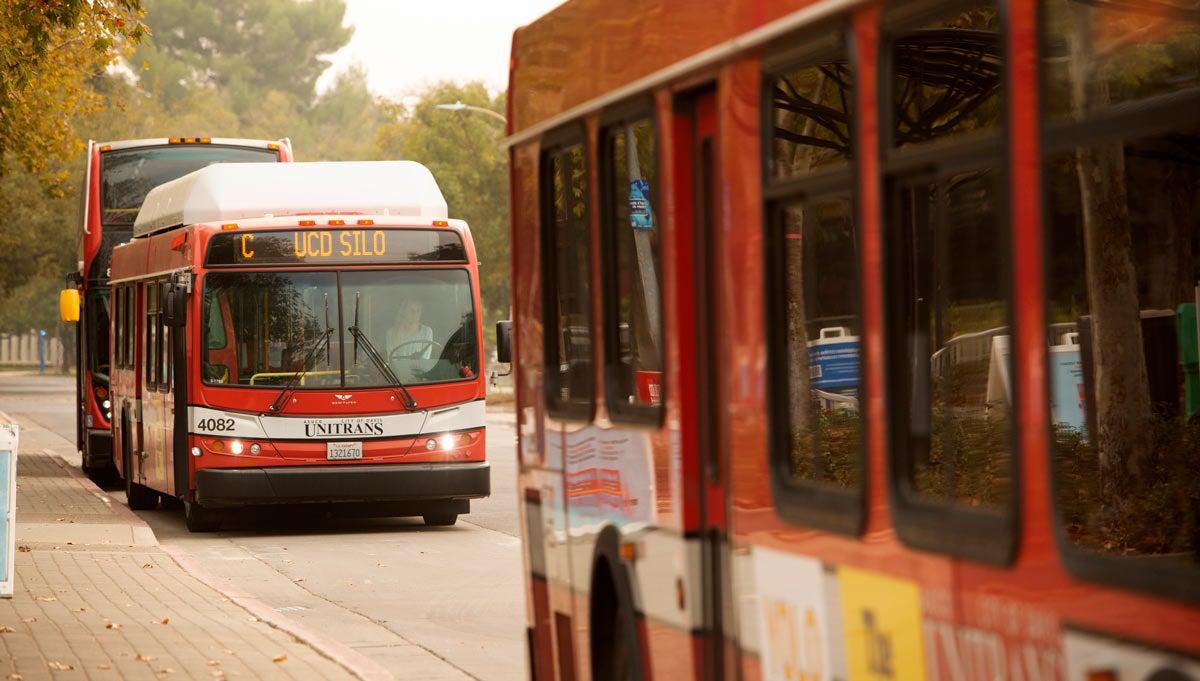 Unitrans buses at Silo Terminal