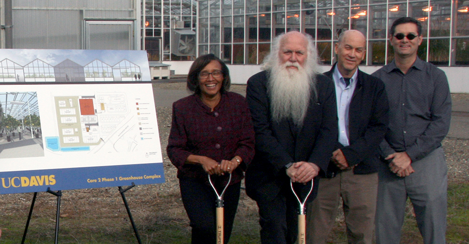 UC Davis breaks ground on new advanced greenhouses