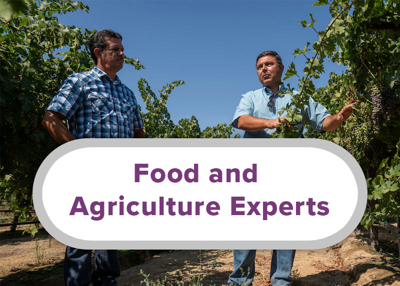 Food and Agriculture Experts
