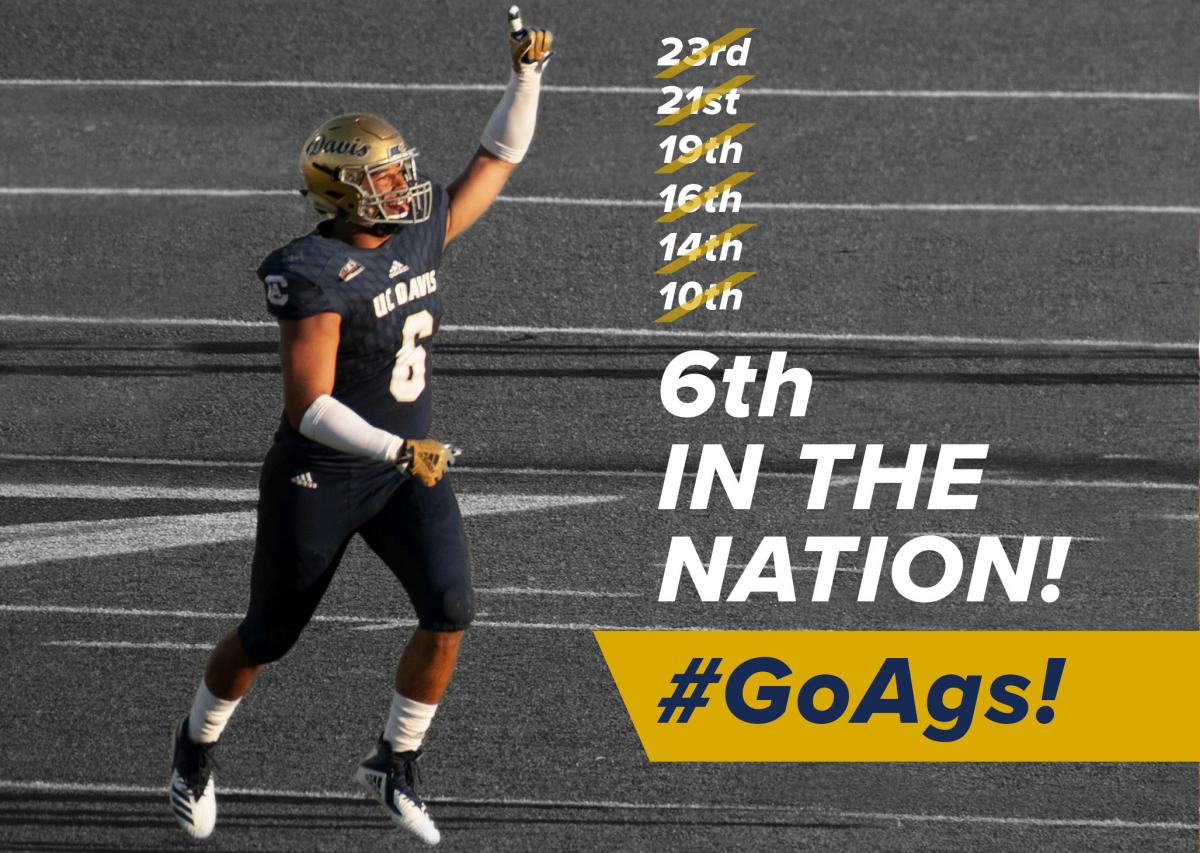 Football is now ranked 6th in the nation!