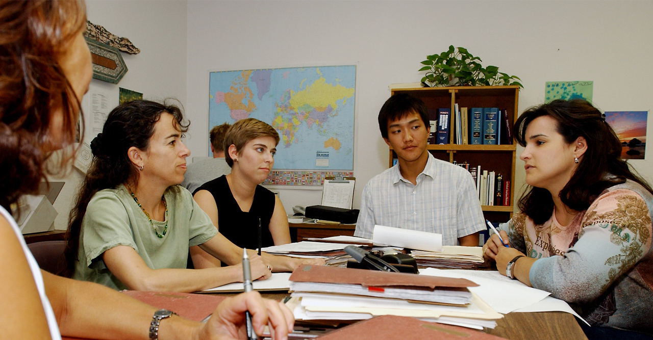 students in law advising - graduate study