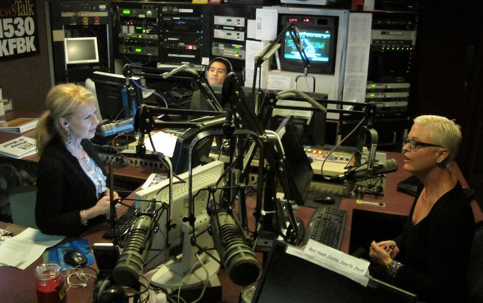 Running the board for the KFBK Afternoon News at the old station near Arden Fair Mall. (Photo courtesy of author)