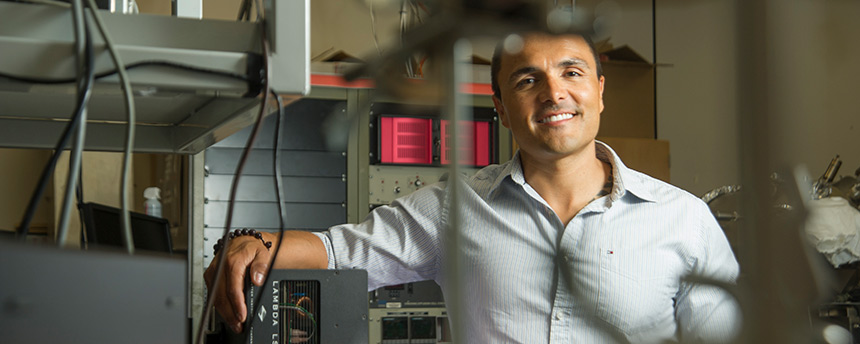 Cristian Heredia, a graduate student in electrical and computer engineering