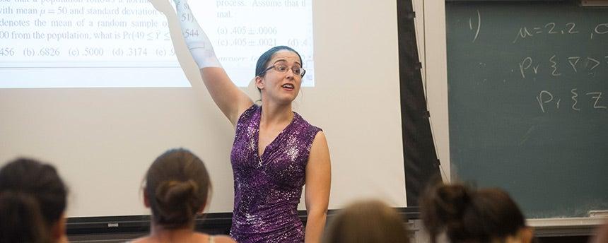 UC Davis statistics graduate student Erin Melcon