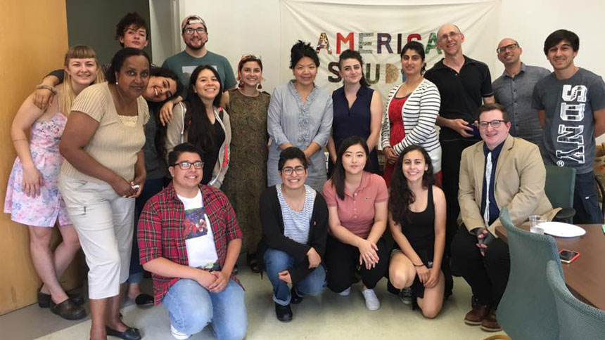 Students and faculty in the American studies program