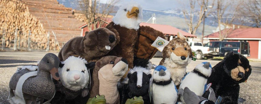 A pile of stuffed animals face the camera after serving as victims for the oil spill drill