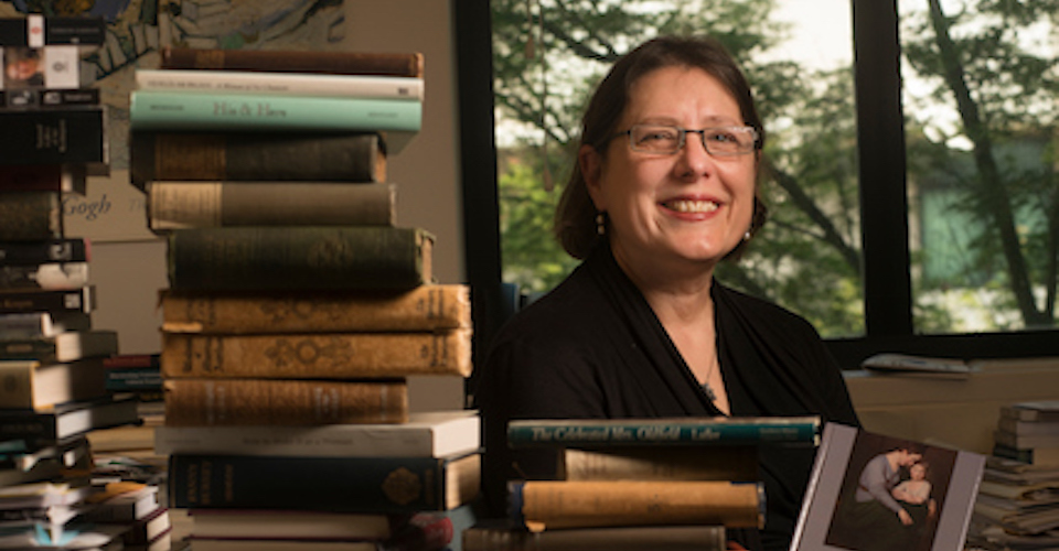 Professor Alessa Johns won a Senate teaching award at UC Davis. She specializes in 18th century British literature.