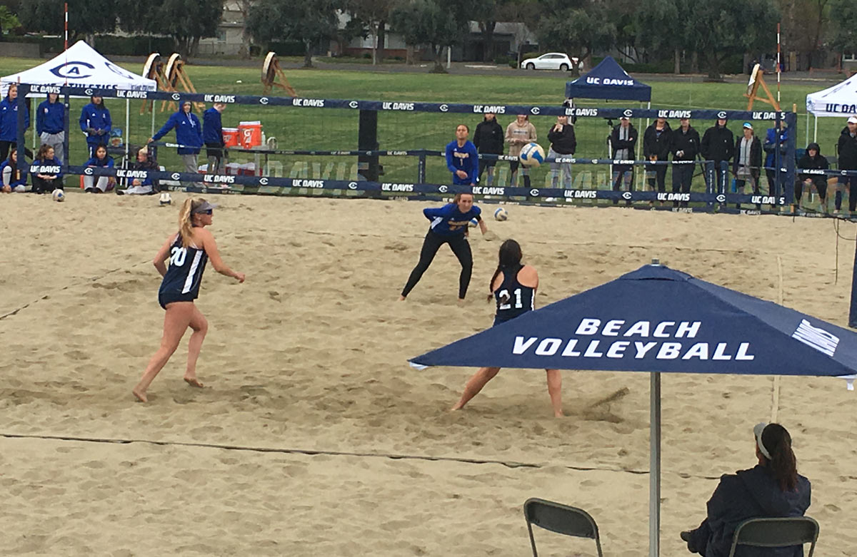 Serving Up A Good Time At Beach Volleyball Uc Davis
