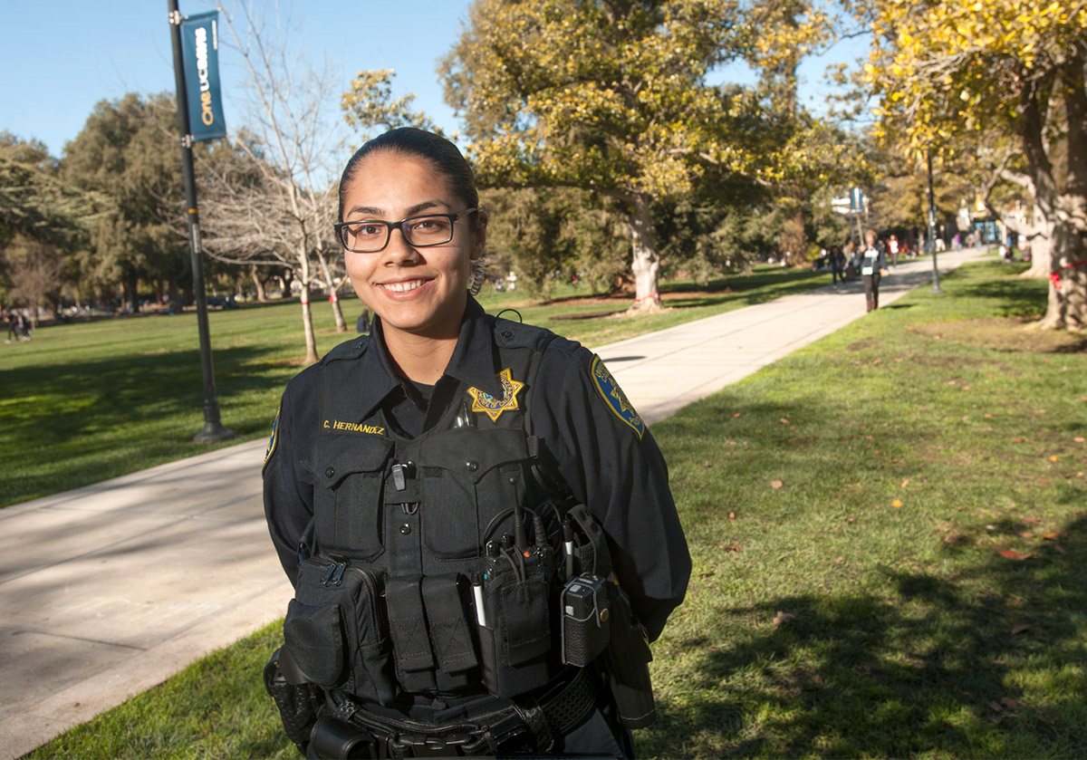 alumni return to campus as police officers