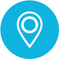Blue Map Icon