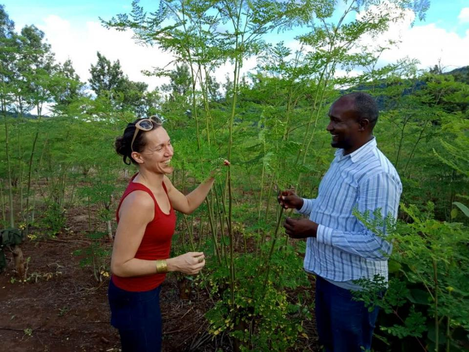 Carrie Waterman and Collins Mwenda
