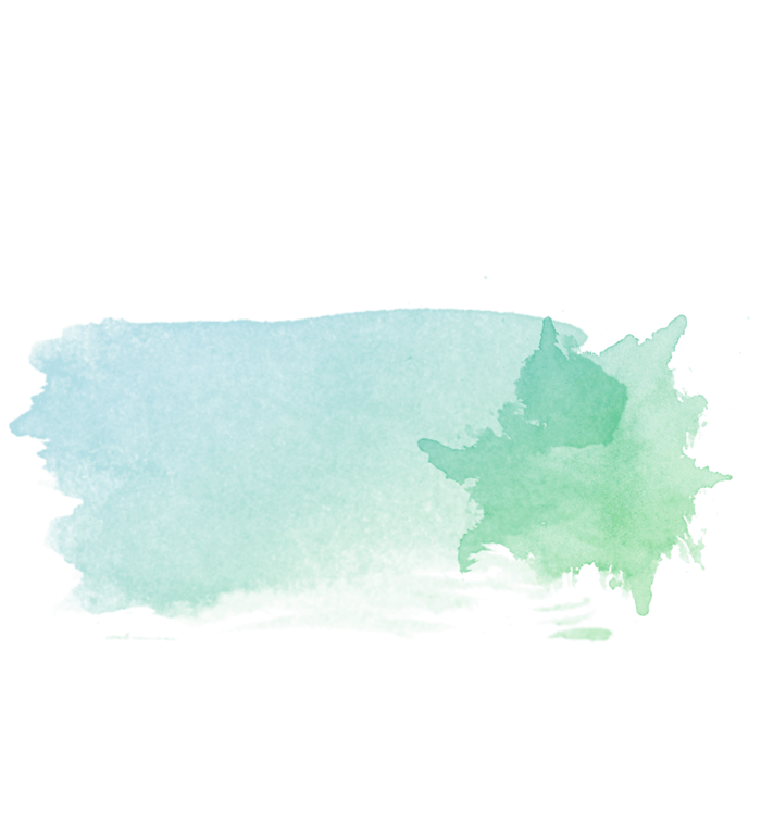 a green and blue paint stroke