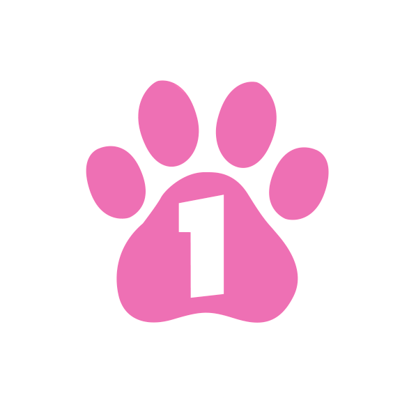 paw icon with a one in it