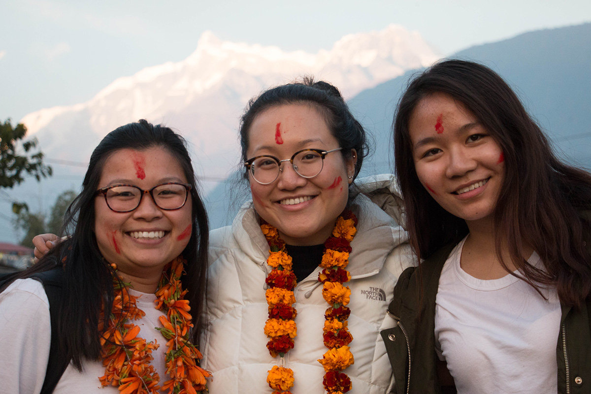 UC Davis students during the Nepal Seminar Abroad