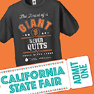 San Francisco Giants shirt and California State Fair ticket
