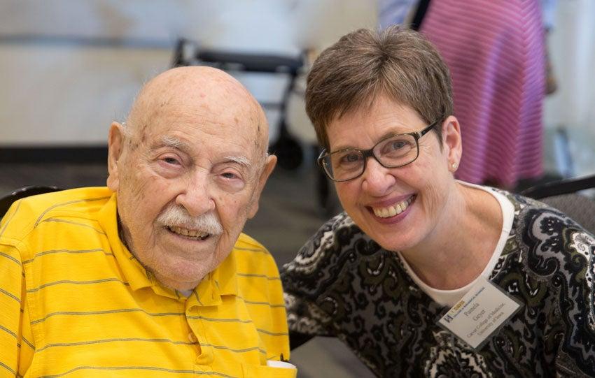 Professor Emeritus Mel Green with Pamela Geyer, a professor in the Carver College of Medicine, University of Iowa.