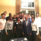 Gary and LeShelle May with the men's basketball team.