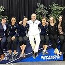 Members of the UC Davis gymnastics team.