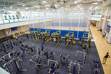 The ARC weight equipment has been relocated to one of the basketball courts.
