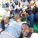 Mandela Fellows at a baseball game