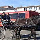 A horse-drawn carriage.