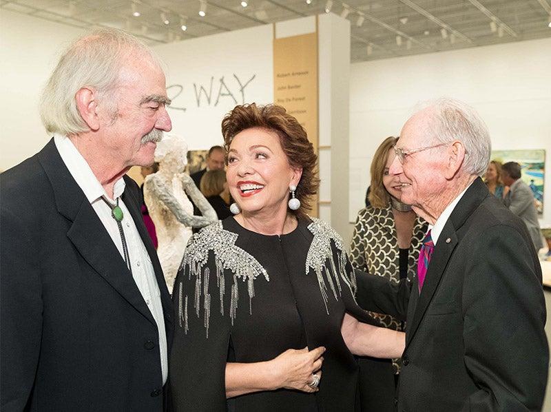 William Wiley, Maria Manetti Shrem and Wayne Thiebaud.