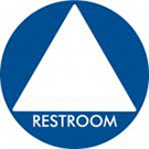Gender-neutral restroom sign (triangle)