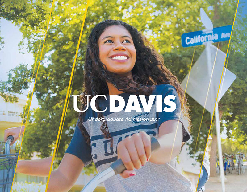 The cover of the UC Davis viewbook.
