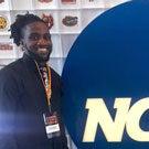 Darius Graham with NCAA logo