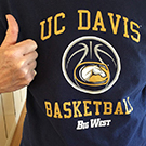 UC Davis basketball shirt