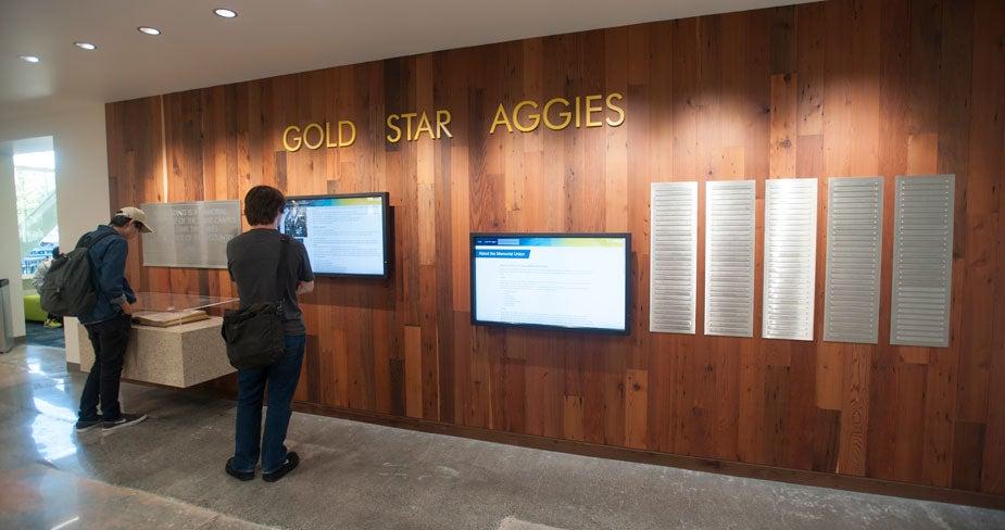 Gold Star Aggies Wall