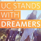 """UC Stands With Dreamers"" graphic"