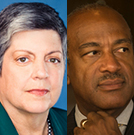Janet Napolitano and Gary May mugshots