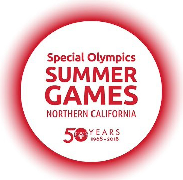 Special Olympics Northern California 50-year logo, red circle