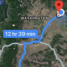 Portion of Google Maps directions