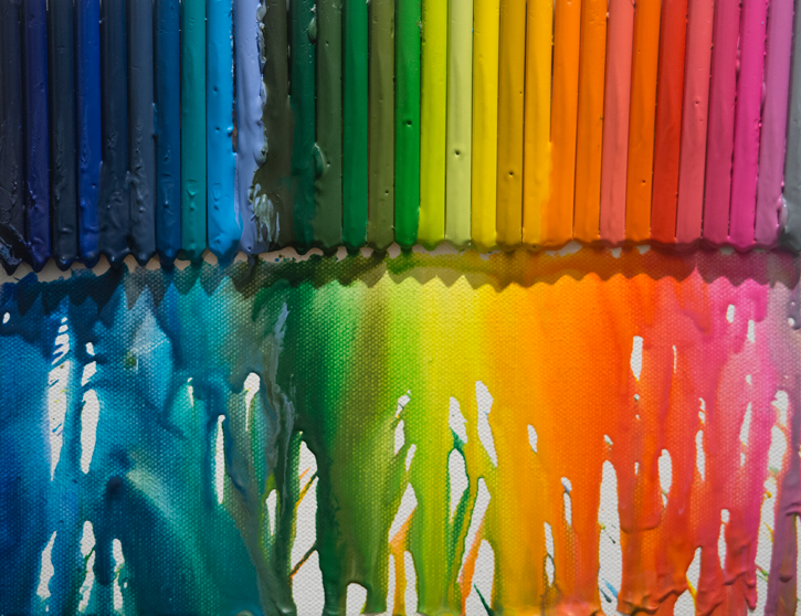 Colorful art, with crayon as subject