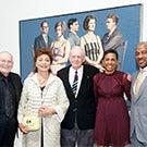 Group photo with Wayne Thiebaud painting