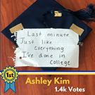 Ashley Kim's winning grad cap design