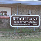 Birch Lane Elementary School sign