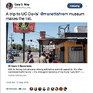 Gary May's tweet of a New York Times travel article about Sacramento.