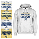 Sweatshirt with UC Davis women's basketball championship logo