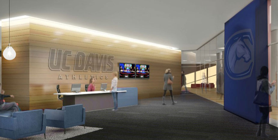 Inside the Student-Athlete Performance Center, artist's rendering