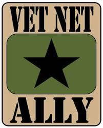 Vet Net Ally logo, words on top and bottom of star