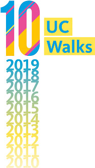 UC Walks 10, with 10 years (2010-2019) listed underneath