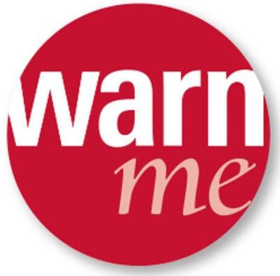 """WarnMe in red circle"
