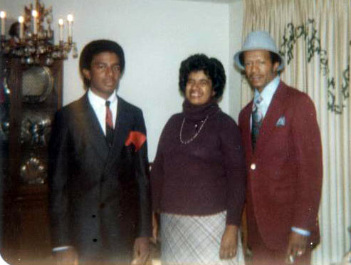 Chancellor Gary S. May as a high school student with his parents.
