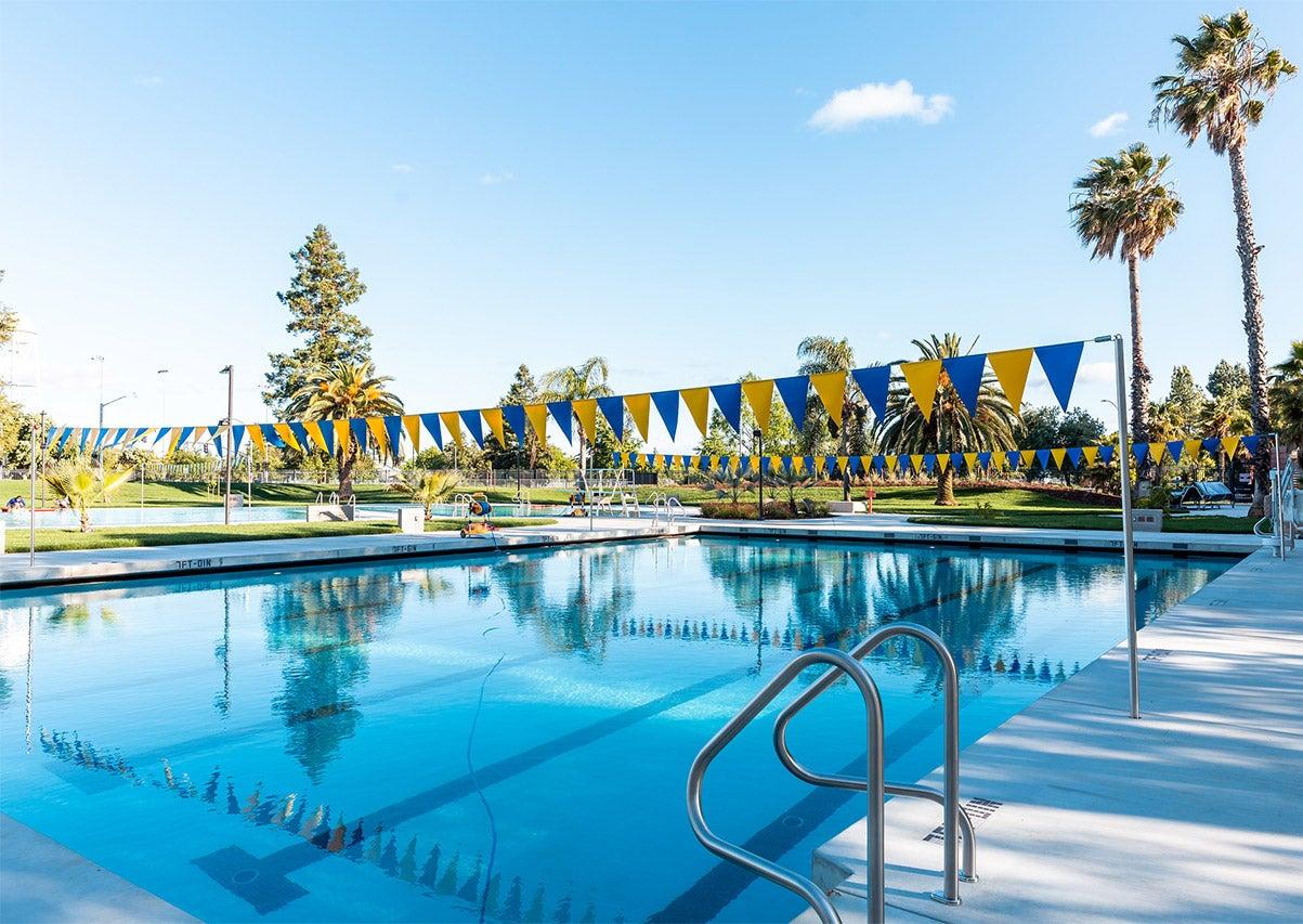 Lap swim pool at UC Davis.