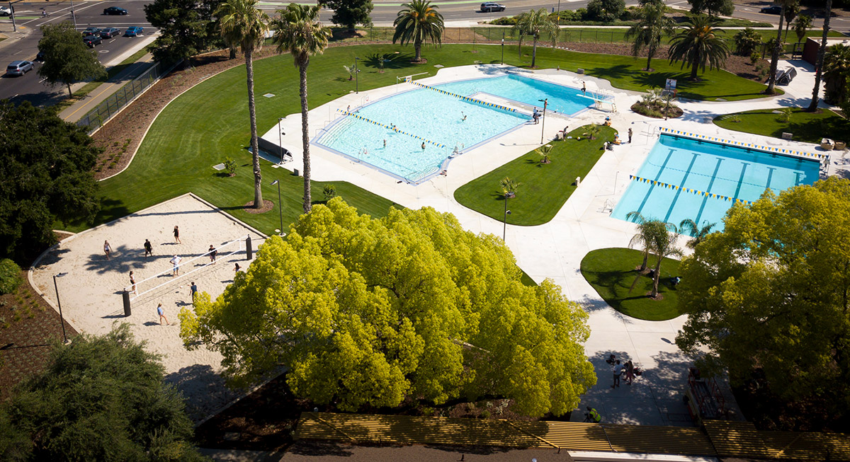 Aerial view of the Recreation Pool.